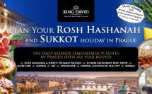 חופשת סוכות 5779 2018 כשרה למהדרין במלון המלך דוד, פראג
